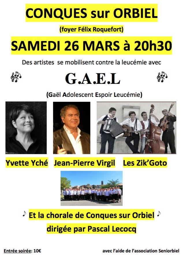 Concert le 26 mars