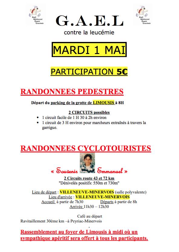 Rando et Cyclo (Souvenir Emmanuel) du 1er mai