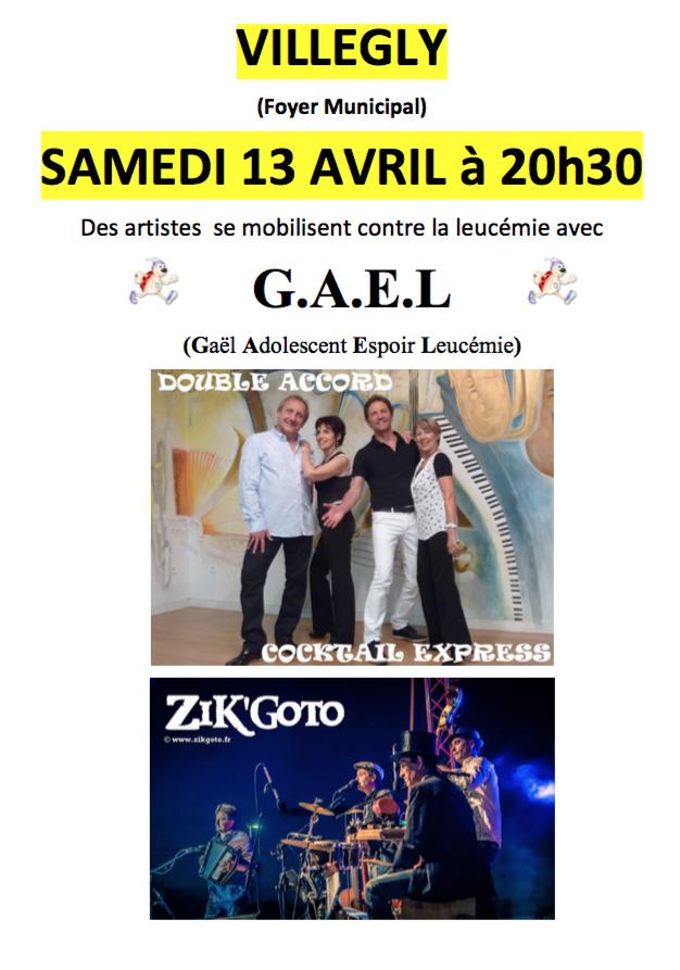 Réservez votre soirée du 13 avril pour G.A.E.L